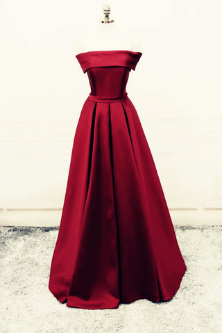 Image of Evening-Dresses-Burgundy