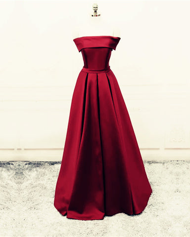 Image of Burgundy-Bridesmaid-Dresses