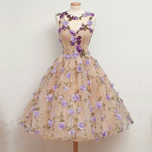 vintage 1950s swing embroiderty party dress