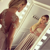 long sleeves prom gowns