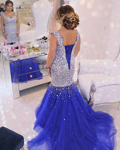 Image of royal-blue-mermaid-evening-dress