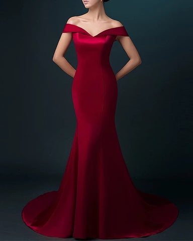 Image of wine red bridesmaid dresses