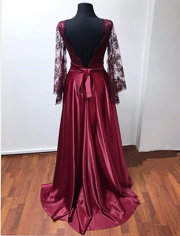 Image of puffy sleeves evening gowns