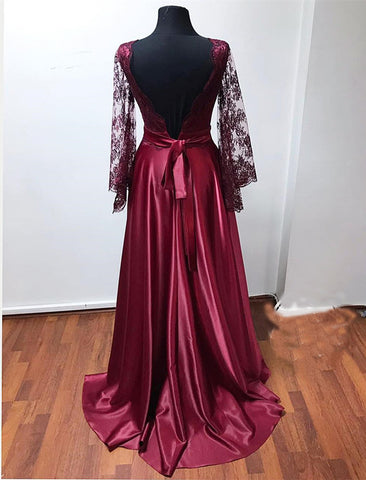 Image of puffy sleeves prom dresses