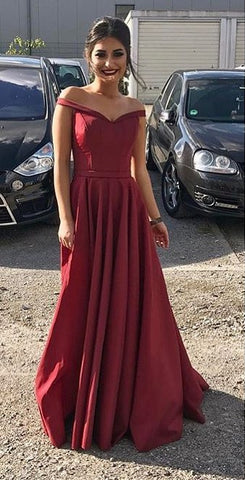 Image of maroon prom dresses