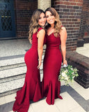 Burgundy-Bridesmaid-Dresses-Long-Maroon-Formal-Gowns