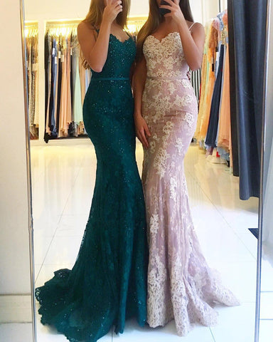 Image of lace mermaid prom dresses