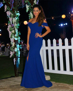 royal blue mermaid dresses