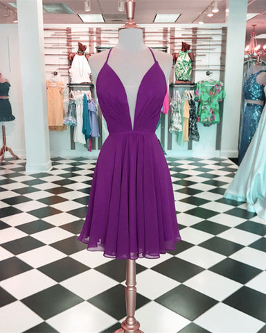 Image of Purple-Homecoming-Dresses-2019-Women's-Semi-Formal-Dress