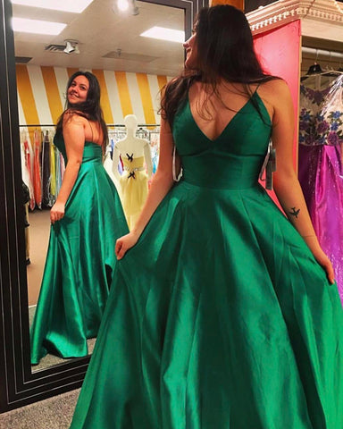 Image of green prom dress