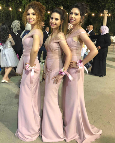 Image of Light-Pink-Dresses-For-Maid-Of-Honor