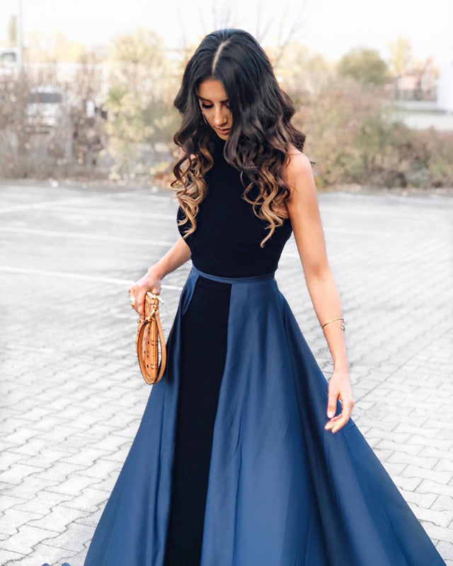0bb444543da Navy Blue Long Velvet Evening Dresses Open Back Prom Gowns – alinanova