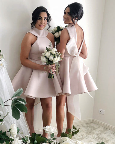 Short-Mini-Ball-Gown-Party-Dresses-For-Bridesmaids