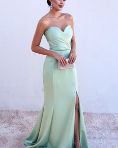 eec60194f7bc Ruched Sweetheart Mermaid Split Prom Dresses 2019 – alinanova