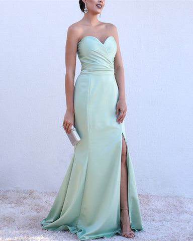 Image of Sexy-Long-Mermaid-Evening-Dresses-Leg-Split-Prom-Gowns