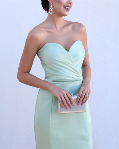 Image of Sleeveless-Sweetheart-Jersey-Formal-Prom-Dress