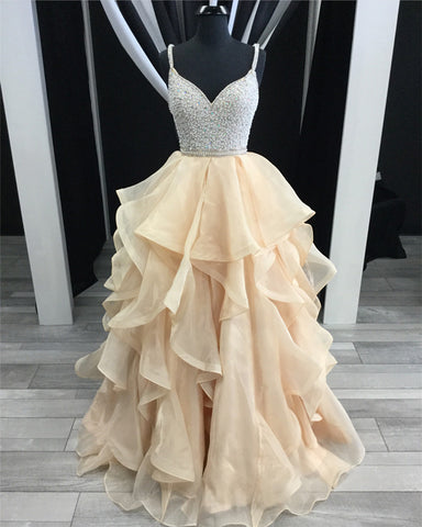 Image of Champagne-Prom-Dresses