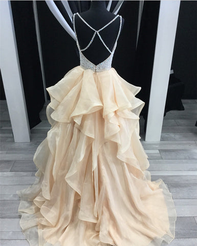 Image of Ruffles-Prom-Dresses
