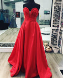 Ruched Sweetheart Long Taffeta Floor Length Evening Dresses