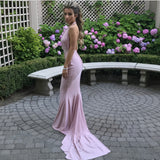 Sexy Backless Long Jersey Mermaid Bridesmaid Dresses For Weddings
