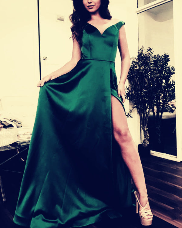 Emerald-Green-Prom-Long-Dresses-2019-Formal-Party-Gowns