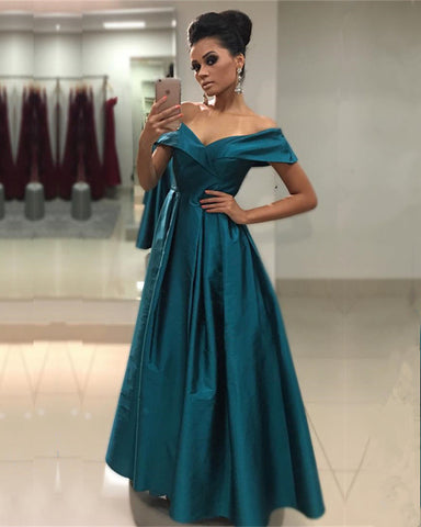 Image of Teal-Green-Prom-Dresses