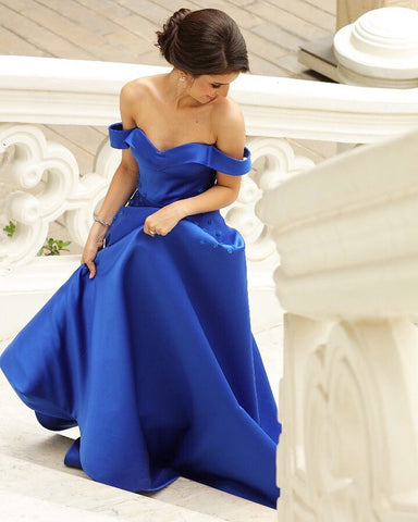Image of Royal-Blue-Ballgown