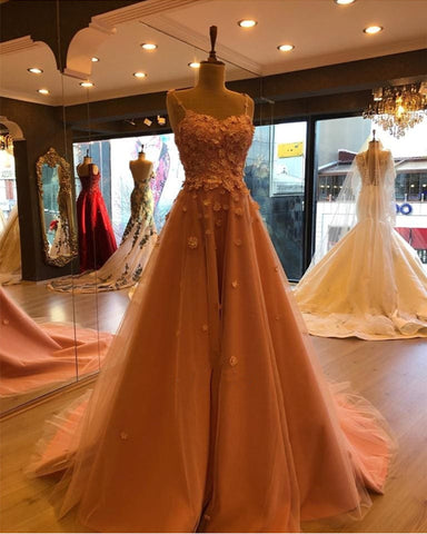 Image of Long-Tulle-Sweetheart-Prom-Dresses