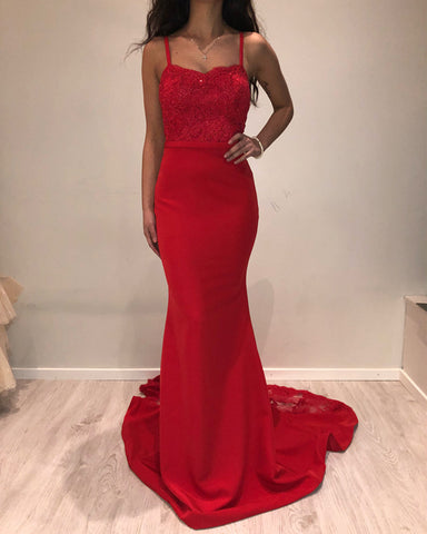 Image of Red Bridesmaid Dresses
