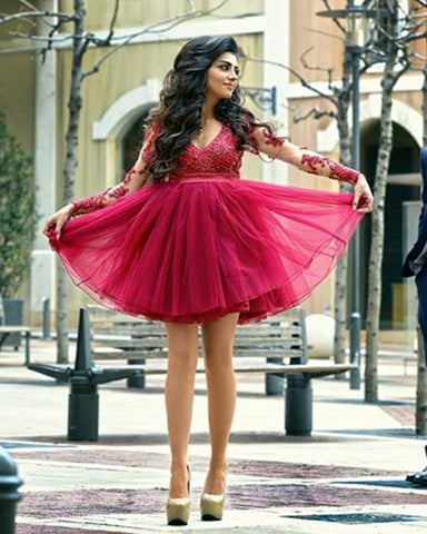 Image of Tulle Prom Dresses Short