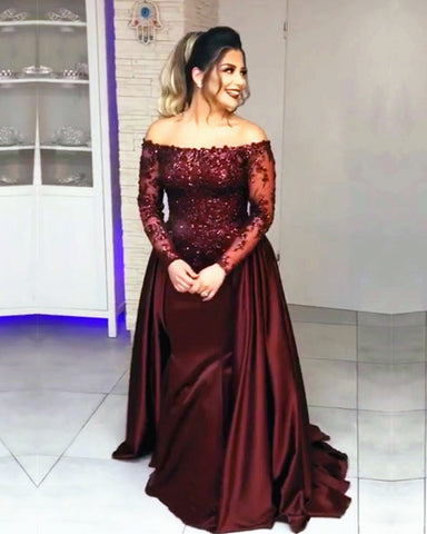 Image of Long Sleeves Prom Dresses