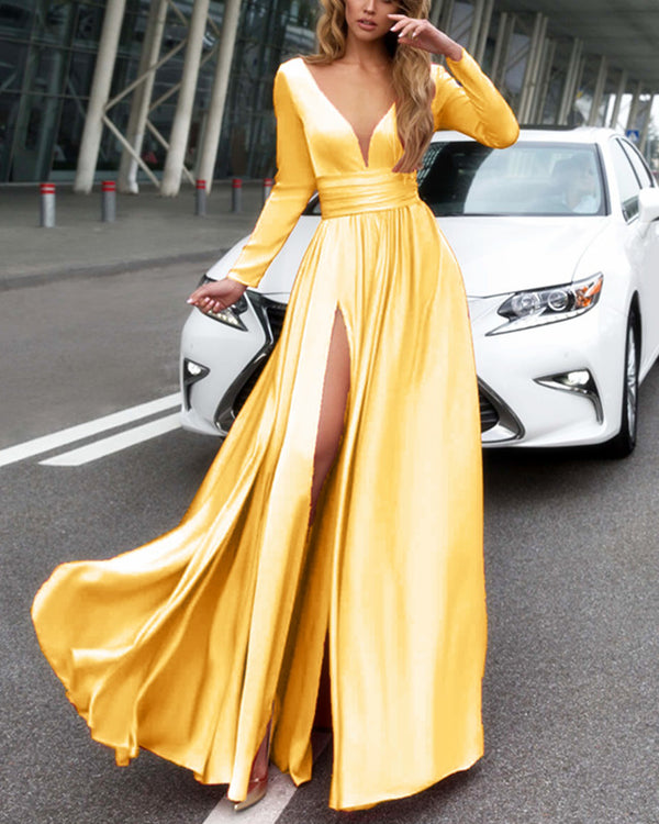 alinanova long sleeves prom dresses 7043 gold