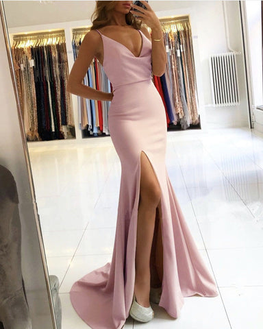 Image of Mauve Mermaid Bridesmaid Dresses