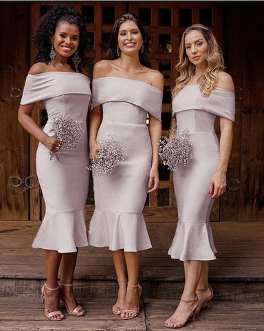 Image of Dusty Mauve Bridesmaid Dresses