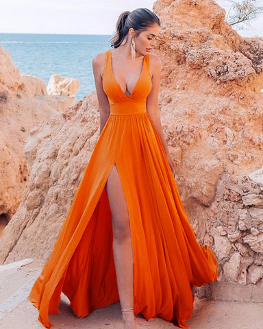 Image of Orange Bridesmaid Dresses
