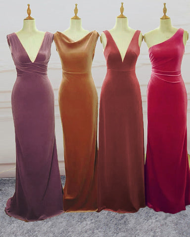 Image of Mixed Color Bridesmaid Dresses
