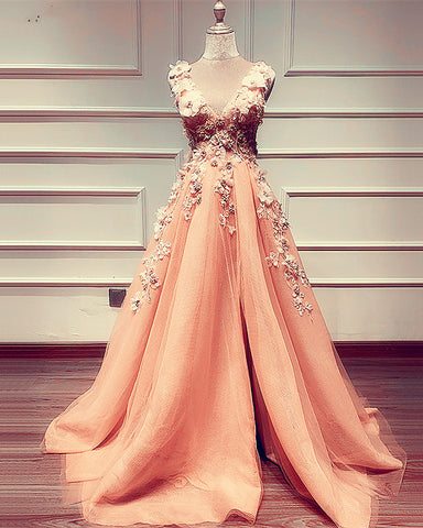 Image of Peach Prom Dresses 2020