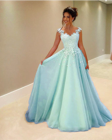 Image of Light Blue Prom Gowns 2021