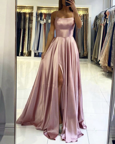 Image of Mauve Pink Prom Dresses