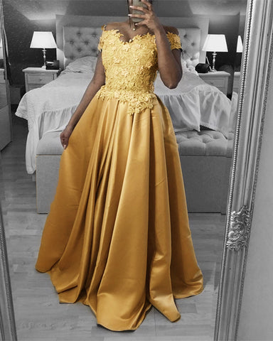 Image of Gold Prom Dresses