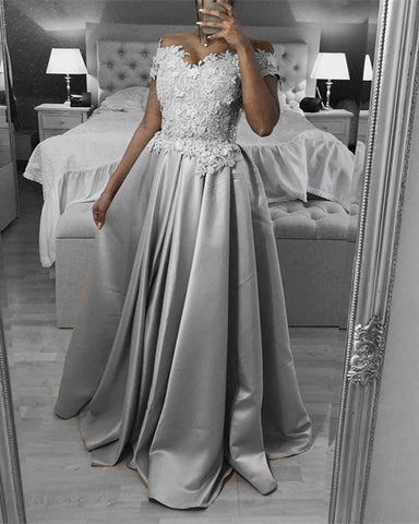 Image of Silver Prom Dresses