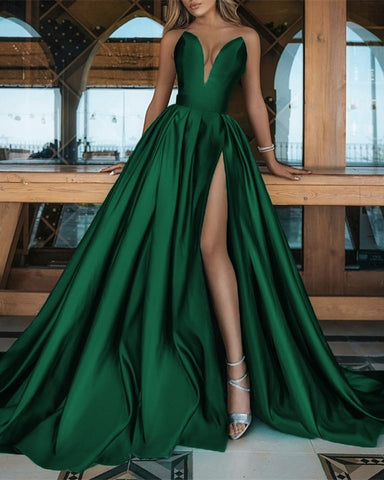 Image of Emerald Green Prom Dresses 2021