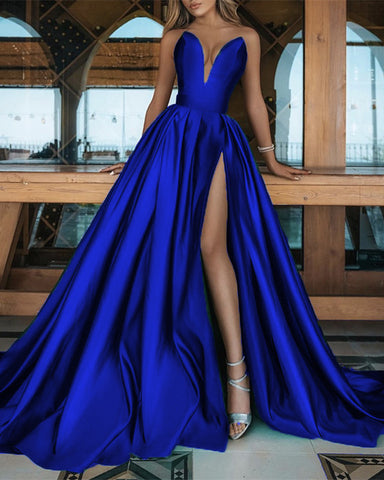 Image of Royal Blue Prom Dresses 2021