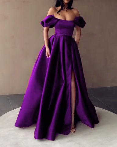 Purple Prom Dresses Off The Shoulder