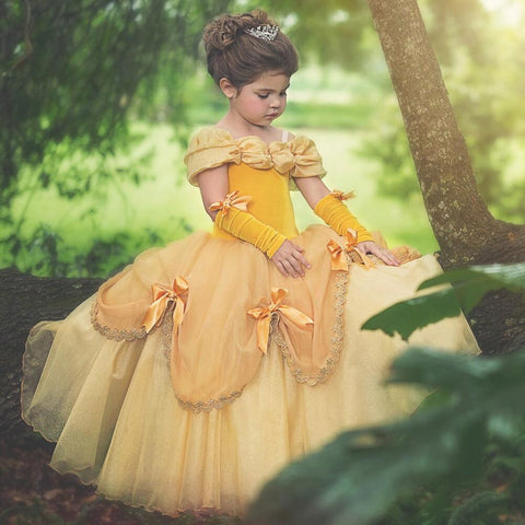 Image of Cute Off The Shoulder Ball Gown Dresses For Flower Girls