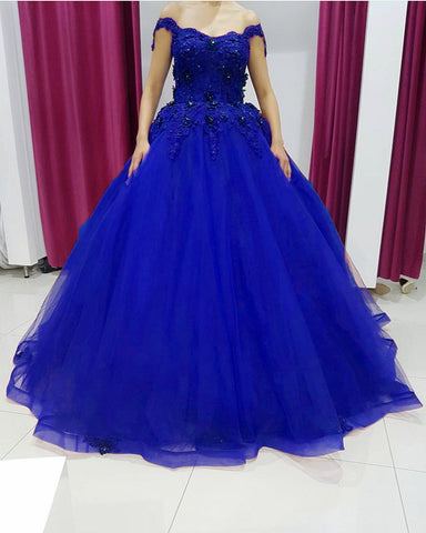 Image of Royal Blue Quinceanera Dresses 2021