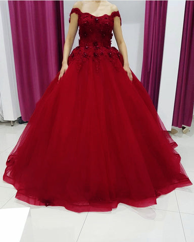 Image of Red Quinceanera Dresses 2021