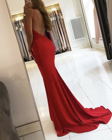 Image of Open Back Mermaid Dresses