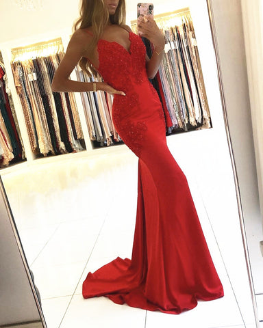 Image of Red Mermaid Dresses