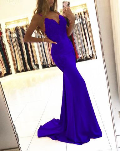 Image of Royal Blue Mermaid Gowns